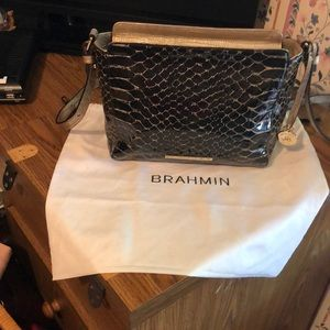 Brahmin adjustable shoulder strap bag.